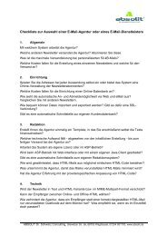 Checkliste Agenturauswahl - Absolit