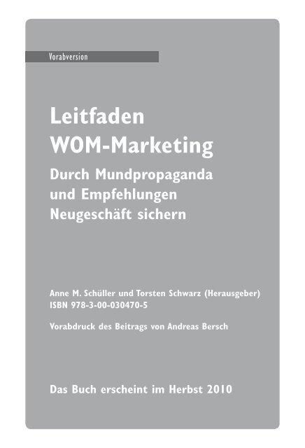 Leitfaden WOM-Marketing - Absolit