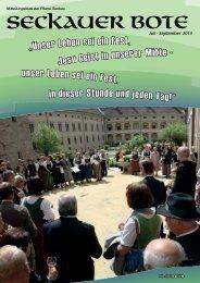 Seckauer Bote Juli-September 2013 - Abtei Seckau