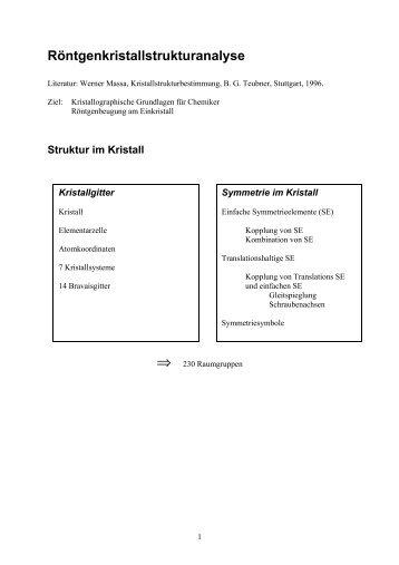Röntgenkristallstrukturanalyse