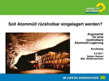 Soll Atommüll rückholbar eingelagert werden? - acamedia