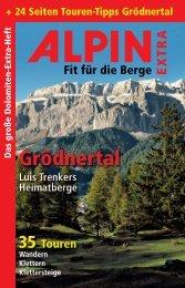 + 24 Seiten Touren-Tipps Grödnertal - Alpin.de