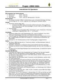 Projekt «HB9O 2009» - USKA