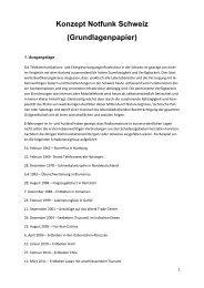 Konzept Notfunk Schweiz - USKA