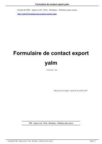 Formulaire - Formulaire de contact ...