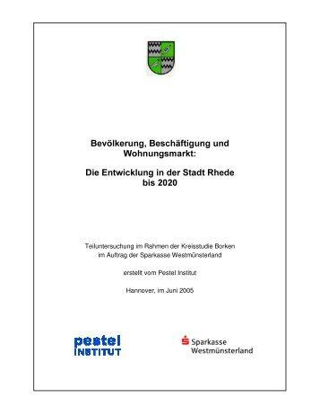 Bev lkerung, Beschäftigung und Wohnungsmarkt Die ... - Stadt Rhede