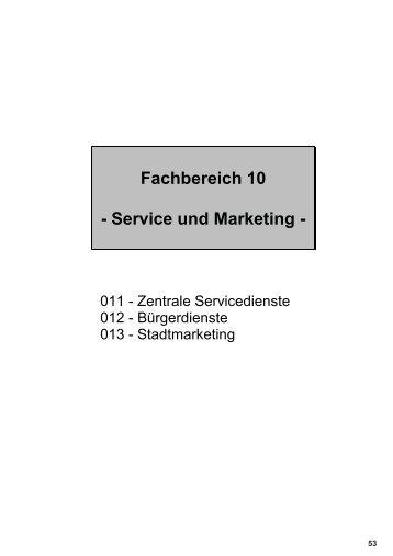 Fachbereich 10 0 Service und Marketing 0 - Stadt Rhede