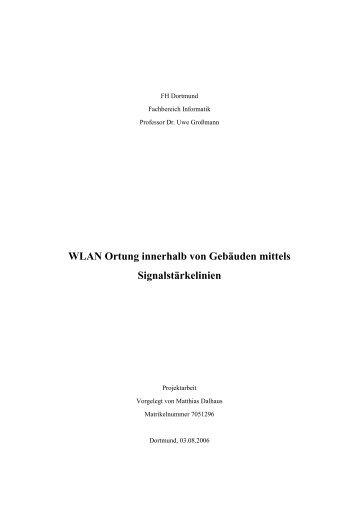 WLAN Ortung innerhalb von Gebäuden mittels Signalstärkelinien