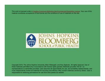Part A - Johns Hopkins Bloomberg School of Public Health