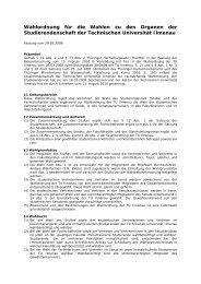 Wahlordnung der Studierendenschaft - StuRa TU Ilmenau