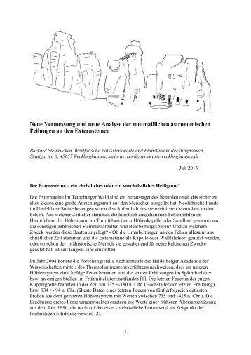 Neuere archäoastronomische Untersuchungen - Planetarium ...