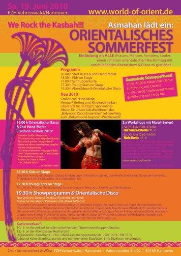 Sommerferien - Powerkurse 2010 23. JUNI - World of Orient
