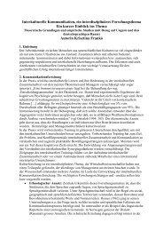 Interkulturelle Kommunikation - ein interdisziplin res ... - Org-Portal.org