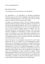 Stellungnahme von Prof. Dr. Gerd Glaeske zu Hormonen - Bremen