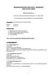 bezirksvertretung des 8. bezirkes der stadt wien - Josefstadt