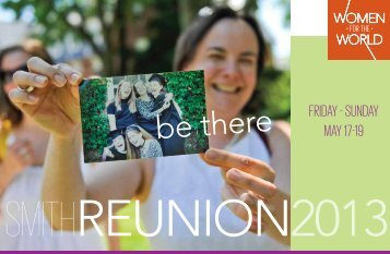Reunion I Brochure - Alumnae Association of Smith College