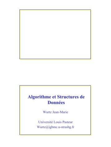 Algorithme et Structures de Données