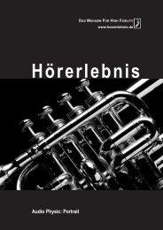 Audio Physic Portrait :: Hörerlebnis