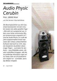 Audio Physic Cerubin Preis: 180000 Mark