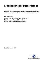 Kriterienbericht Faktenerhebung - DORIS - Bundesamt für ...