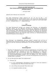 Satzung über die Benutzung des städtischen Erholungs - Stadt ...