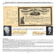 John D. Rockefellers persönliches Aktienzertifikat über 500 Shs!
