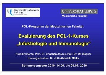 """Evaluierung des POL-1-Kurses """"Infektiologie und Immunologie"""""""