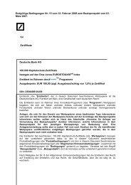 Endgültige Bedingungen Nr. 15 vom 12. Februar ... - Börse Stuttgart
