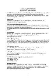 Anleitung GRE PSR-214 - Diesnerfunk