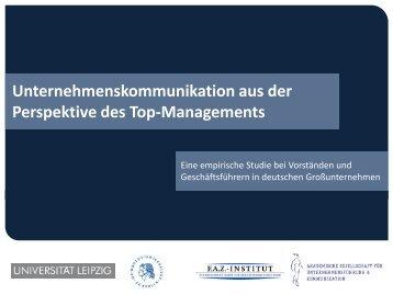 Unternehmenskommunikation aus der Pespektive des Top ...