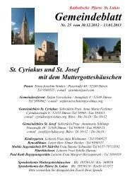 Gemeindeblatt - St. Lukas
