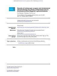 tracheobronchial Wegener's granulomatosis steroid therapy for ...