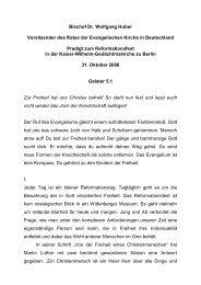 Bischof Dr. Wolfgang Huber Vorsitzender des Rates der ...
