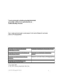 Voorinventarisatie arbeidsomstandighedenbeleid gevaarlijke stoffen ...