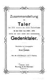 Zusammenstellung der Taler im 14. sowie im 20. Talerfusse : in der ...