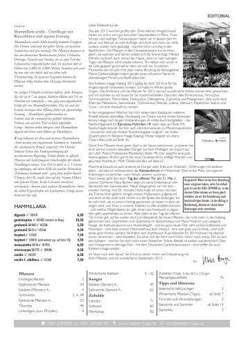 Kakteen-Haage Katalog 2013 - Cactusblog