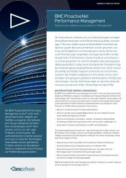 BMC ProactiveNet Performance Management - BMC Software