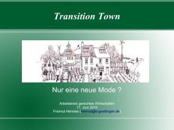 Transition Town - Göttingen im Wandel