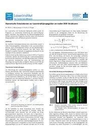 Numerische Simulationen zur Laserstrahlpropagation an realen ...