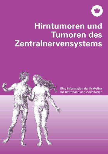 Hirntumoren und Tumoren des Zentralnervensystems - Krebsliga ...