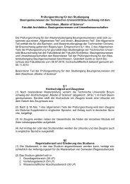 Besonderer Teil der Prüfungsordnung Bauingenieurwesen