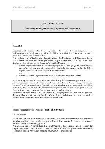 """""""Wir in Wülfer-Bexten"""" Darstellung des ... - Bad Salzuflen"""
