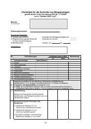 Checkliste für die Kontrolle von Biogasanlagen - LALLF