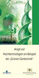 """Angst vor Hochtechnologien am Beispiel der """"Grünen Gentechnik"""""""