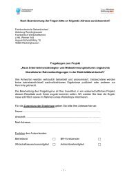 Fragebogen Betriebsrätebefragung