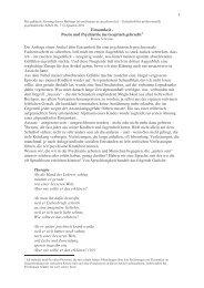 1 Einsamkeit - Poesie und Psychiatrie ins ... - Kulturserver NRW