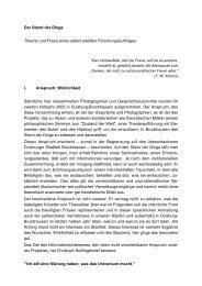 Der Stand der Dinge Theorie und Praxis eines ... - Kulturserver NRW