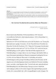 - Der Geist der Psychiatriereform und das Diktat ... - Kulturserver NRW