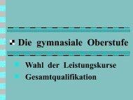 Information für die EF (G8 Abitur 2014)