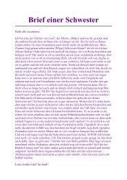 Brief einer Schwester - FASD
